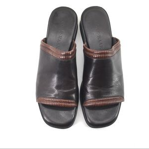 Cole Haan Leather Sandals 7B Slide Slip On $148